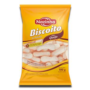 Nazinha Biscoito Polvilho Queijo 100g