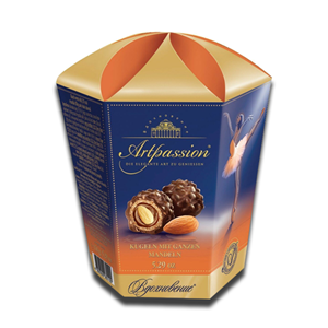 Uniconf Artpassion Spheres with Whole Almond Carton 150g