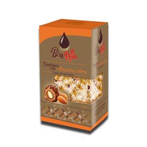 Uniconf Bon Roll Chocolate With Whole Almond Carton 240g