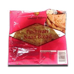 Leicester Bakery Peshwari Naan Bread 400g