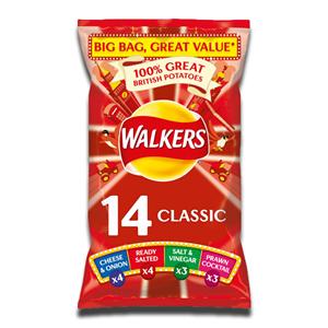 Walkers Classic Variety Crisps 14x25g