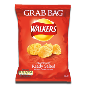 Walkers Crisps Ready Salted 50g