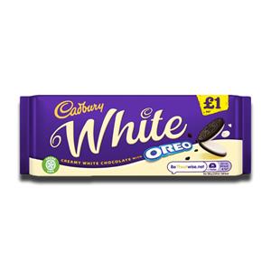Cadbury White Oreo Chocolate Bar 120g