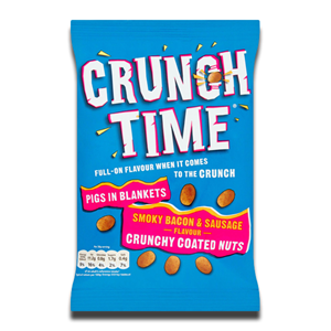 Crunch Time Coated Nuts Smoky Bacon & Sausage 120g