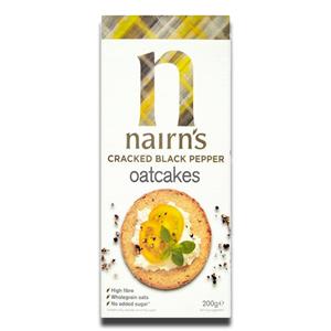 Nairn's Oatcakes Cracked Black Pepper 200g