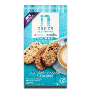 Nairn's Biscuit Breaks Oat DarK Chocolate & Coconut 160g