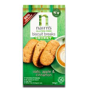 Nairn's Biscuit Breaks Oat Apple & Cinnamon 160g