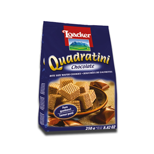 Loacker Quadratini Wafer Cookies Chocolate 250g