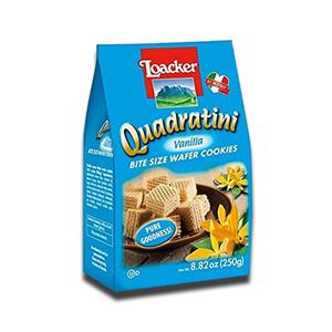 Loacker Quadratini Wafer Cookies Vanilla 250g