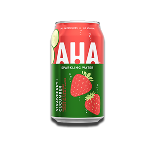 Aha Sparkling Water Strawberry & Cucumber Flavour 355ml