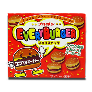Bourbon Japanese Every Burger Chocolate Biscuits 66g
