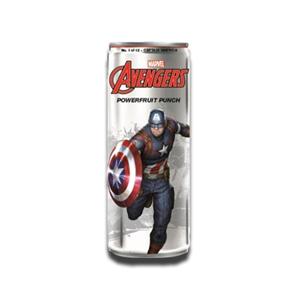 Marvel Avengers Powerfruit Punch Captain America Energy Drink 355ml