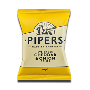Pipers Cheddar & Onion Crisps 40g