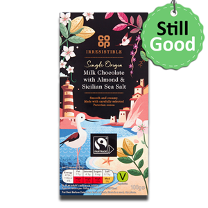Coop Irresistible Fairtrade Milk Chocolate with Almond & Sea Salt 100g
