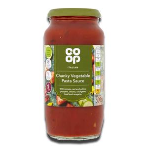 Coop Italian Chunky Vegetable Pasta Sauce 500g