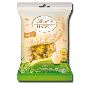 Lindt Lindor White Mini Eggs Bag 80g