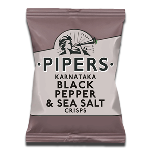 Pipers Black Pepper & Sea Salt 40g