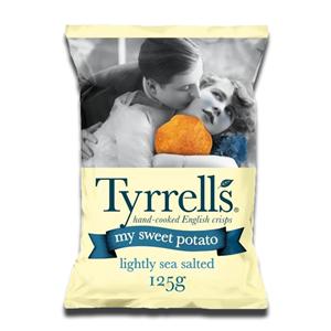 Tyrrell's Sweet Potato Crisps Lightly Sea Salted 125g