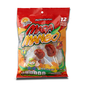 Dulce Mara 12 Mango and Chile Lollipops 168g