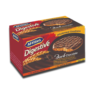 Mcvitie's Digestive Dark Chocolate Carton 200g