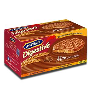Mcvitie's Digestive Milk Chocolate Carton 200g
