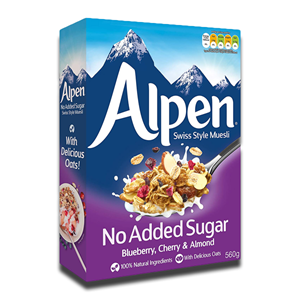 Alpen No Added Sugar Strawberry Cranberry & Raspberry Muesli 560g