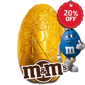 M&M's Chocolate Egg in Foil 190g