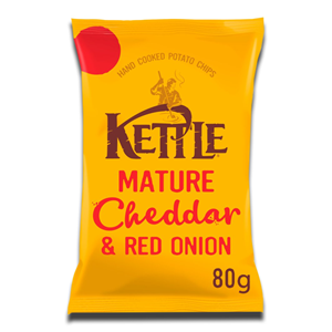 Kettle Mature Cheddar & Red Onion 80g
