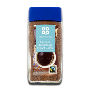 Coop Coffee Decaffeinated Instant Gold Roast Fairtrade 100g
