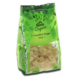 Suma Wholefoods Ginger Crystallised 250g