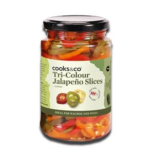 Cooks & Co Jalapeno Slices Tri-Colour 290g