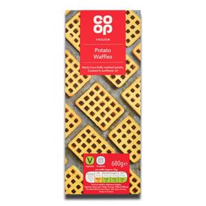 Coop Potato Waffles Frozen 680g