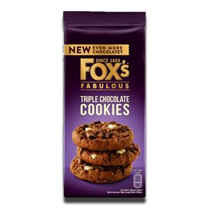 Fox's Fabulous Triple Chocolate Cookies 180g