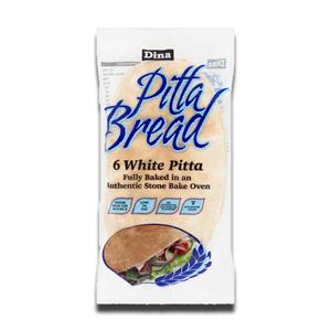 Dina 5' White Pitta Bread 200g