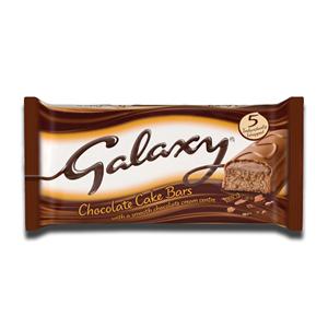Galaxy Cake Bars Smooth Chocolate 5 x 28.7g