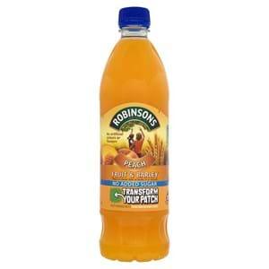 Robinsons No added Sugar Fruit & Barley Peach 1L