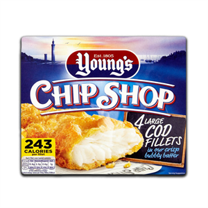 Young's Chip Shop Haddock 4's 400g