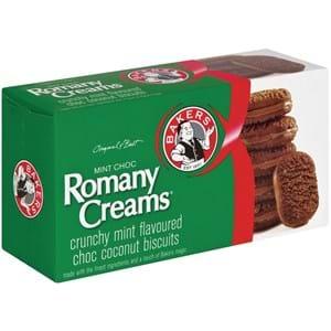 Bakers Romany Creams Mint 200g