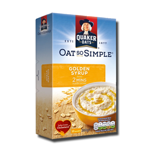 Quaker Oats So Simple Golden Syrup 10 Sachets 360g