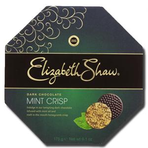 Elizabeth Shaw Mint Crisp Dark Chocolate 175g