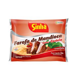 Sinhá Farofa Mandioca Sabor Costela 250g