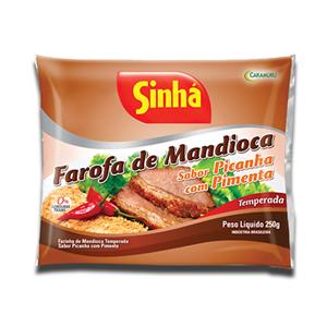 Sinhá Farofa Mandioca Sabor Picanha Pimenta 250g