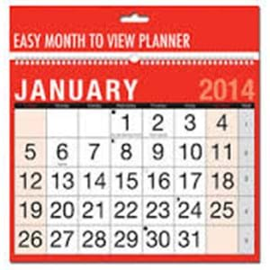 Red & Black Easy Month To View Planner