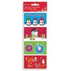 Giftmaker Christmas 20 Gift Tags Hand Crafted