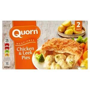 Quorn Chicken & Leek Pies 400g