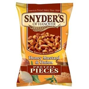 Snyders Pretzel Pieces Honey Mustard Onion 125g