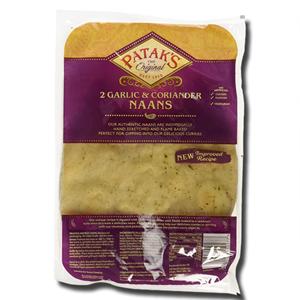 Patak's Garlic Naan Bread 2's 280g