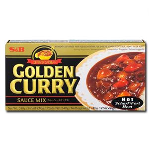 S&B Hot Golden Curry 240g