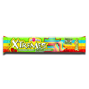 AirHeads Extreme Sour Belts Rainbow Berry 57g