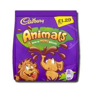 Cadbury Mini Animals 6 Pack 132g